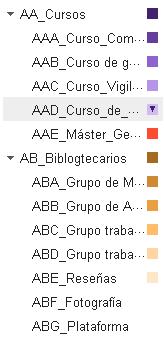 Estructura de ejemplo de Gmail