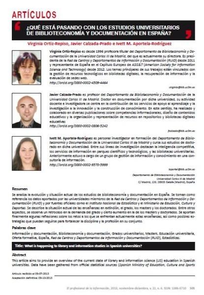[#EPItecarios] ¿Qué está pasando con los estudios universitarios de Biblioteconomía y Documentación en España?