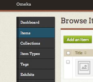añadir item omeka