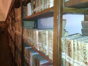 Detalle fondo antiguo de la Sala Borbón-Lorenzana, Biblioteca de Castilla-La Mancha