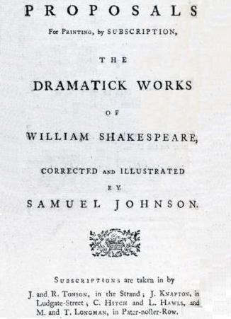 Propuesta Edición Obras Completas Shakespeare