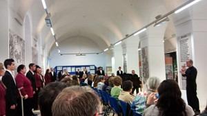 El Coro Amadeus actuó en la Biblioteca de Extremadura