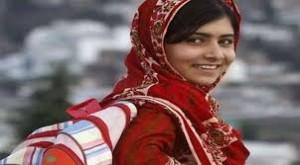 Malala de camino al colegio