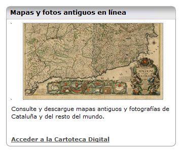 Las cartotecas digitales, cada vez menos desconocidas (3): Institut Cartogràfic de Catalunya