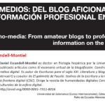 [#EPItecarios] Nanomedios: del blog aficionado a la información profesional en la Red