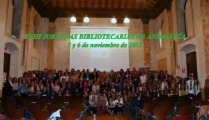 Foto de familia de las XVIII Jornadas Bibliotecarias de Andalucía