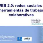 Desde el otro lado del taller…. Web 2.0: redes sociales y herramientas de trabajo colaborativo