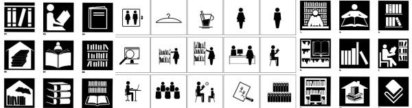 pictogramas para señalización en bibliotecas