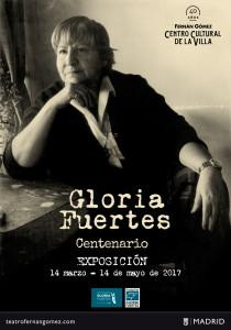 Centenario nacimiento Gloria Fuertes. Foto: Centro Cultural de la Villa Fernán Gómez. Cartel de la exposición.