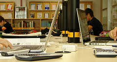 Tarde de domingo en Biblioteca etsit via Flickr