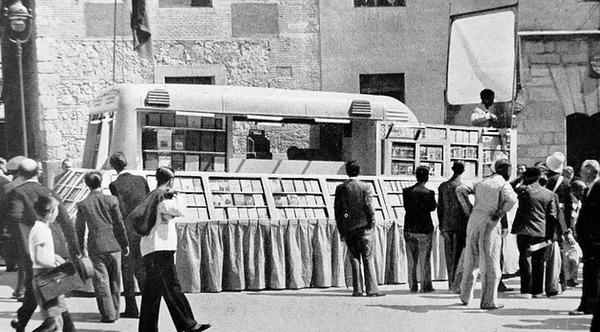 Bibliobús en Madrid