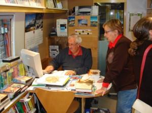 Personal del Bibliobús Pedraforca, el más veterano de Cataluña