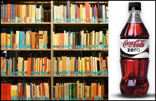 Bibliotecas y Coca Cola Zero