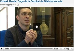 Ernest Abadal habla sobre el Open Access ( en catalán).