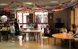 Biblioteca Humana con niños en CDS