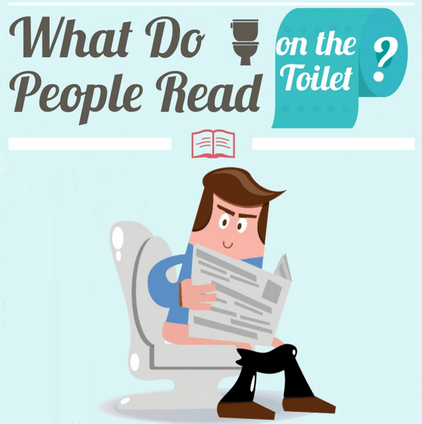 What do people read on the toilet?
