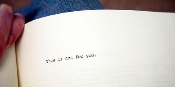 Esto no es para ti