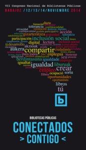 Cartel del VII Congreso Nacional de Bibliotecas Públicas (Badajoz)