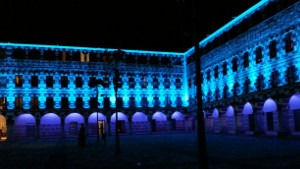 Iluminación nocturna de la Plaza Alta de Badajoz