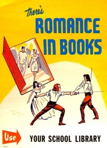There's romance in books