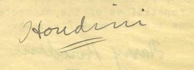 Firma de Houdini