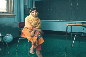Malala en la escuela