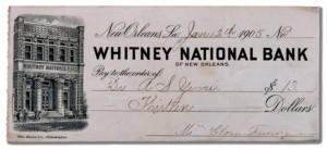 Cheque Banco Nueva Orleans