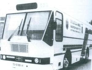 Modelo de Bibliobús de los incorporados en 1982