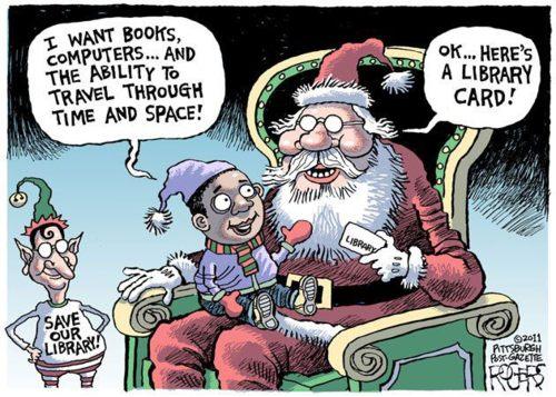Papá Noel hablando con un niño