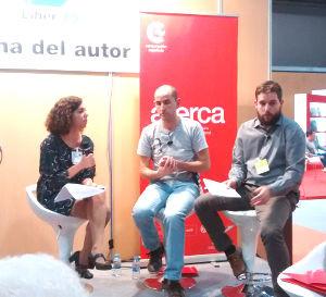 Emiliano Molina y Jaume Balmes en la Zona de autor de Liber 2015