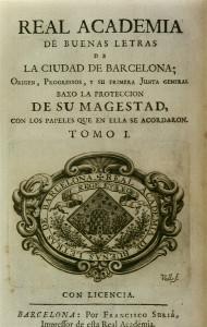 Emblema de la Real Academia de las Buenas Letras de Barcelona