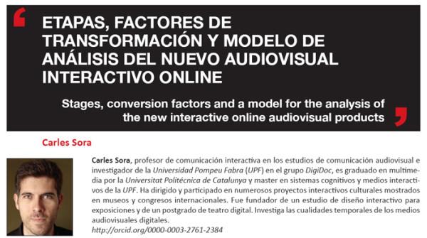 modelo de análisis del nuevo audiovisual interactivo online
