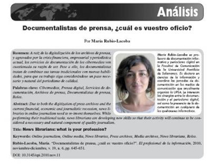 Documentalistas de prensa