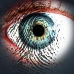 Huella digital sobre un ojo