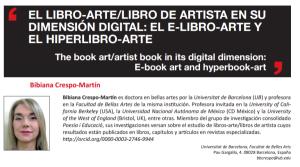 El libro-arte/libro de artista en su dimensión digital: el e-libro-arte y el hiperlibro-arte