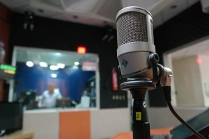 Estudio de radio, podcast