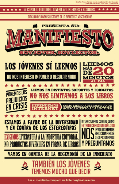 Manifiesto Soy joven, soy lector