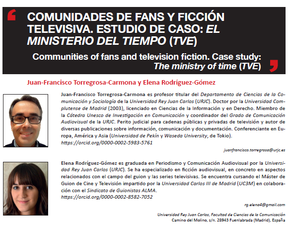[#EPItecarios] Comunidades de fans y ficción televisiva. Estudio de caso: El Ministerio del Tiempo (TVE)
