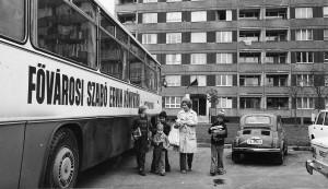 Bibliobús de Budapest en la década de 1970