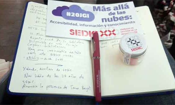 XX Jornada de Gestión de la Información de SEDIC. Más allá de las nubes: Accesibilidad, información y conocimiento