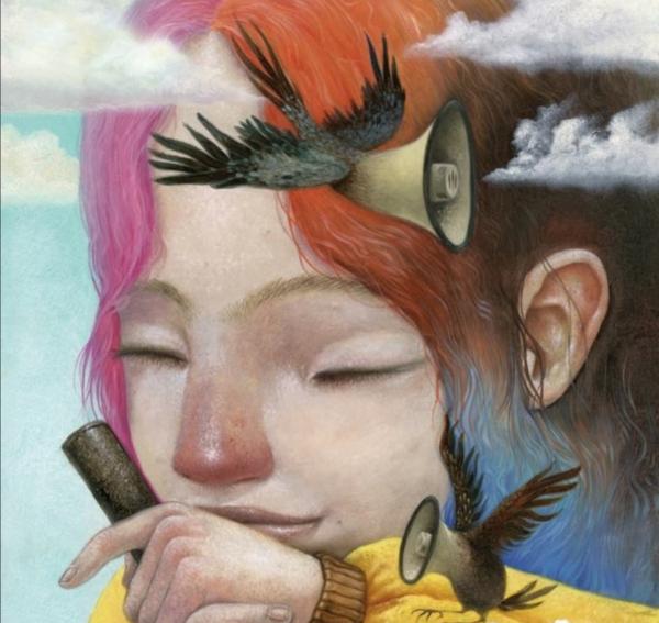 """Illustración de Roger Olmos del libro """"Lucia"""" publicado por Logos Edizioni en colaboración con CBMonlusitalia"""