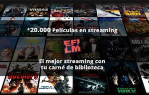Efilm: Ver cine en streaming gratis y legal, ahora es posible gracias a tu biblioteca
