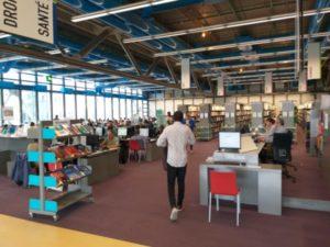 Biblioteca Centro Pompidou interior