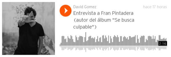 """Entrevista a Fran Pintadera (autor del álbum """"Se busca culpable"""")"""