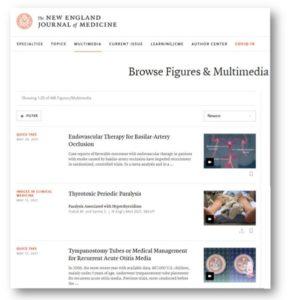 Ejemplos de vídeo resúmenes de The New England Jouirnal of Medicine